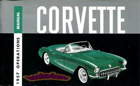 chevrolet corvette owners manual handbook guide book