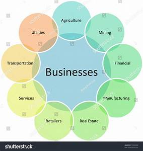 Business Types Diagram Management Strategy Concept Chart