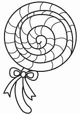 Lollipop Coloring Candy Printable Pages Lolly Pop Template Colouring Swirl Templates Chocolate Lolliepop Sweet Lollipops Books Drawing Sheets Godis Ice sketch template