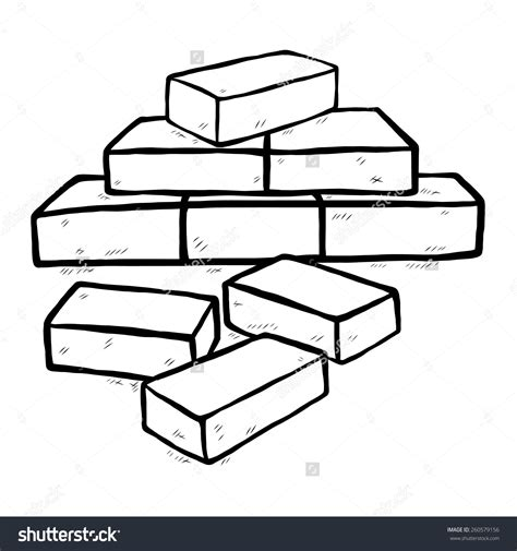 Brick Clipart Bricks Clipart Black And White Clipground