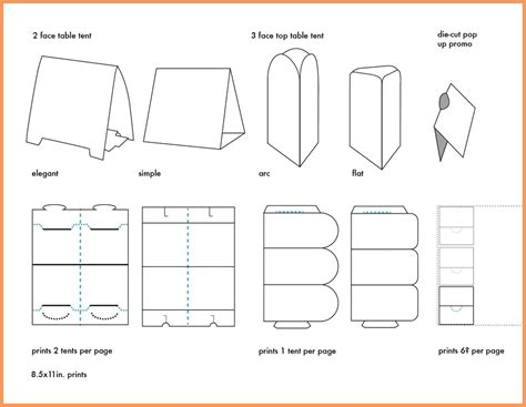 table tent template indesign table tent templates word