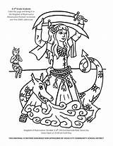 Coloring Dance Irish Dancer Belly Coloringhome sketch template