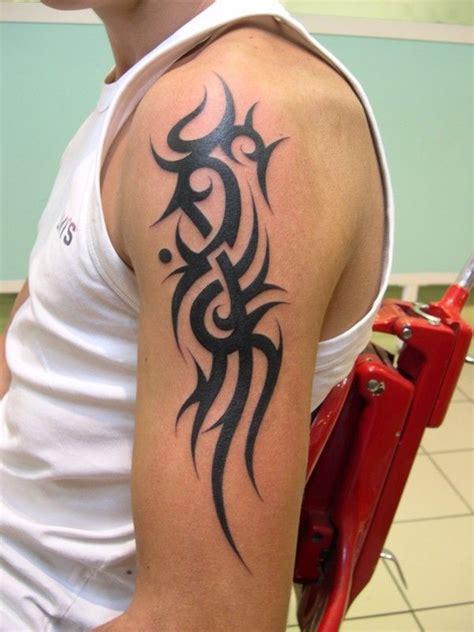 tatouage tribal bras tatouage tribal 233 paule et bras tribal 233 paule gauche 1