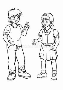 Boy and Girl talking stock image. Image of smiling ...