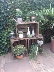 Obstkisten Deko Garten : hout in de tuin en op het terras 53 adembenemende voorbeelden ~ Michelbontemps.com Haus und Dekorationen
