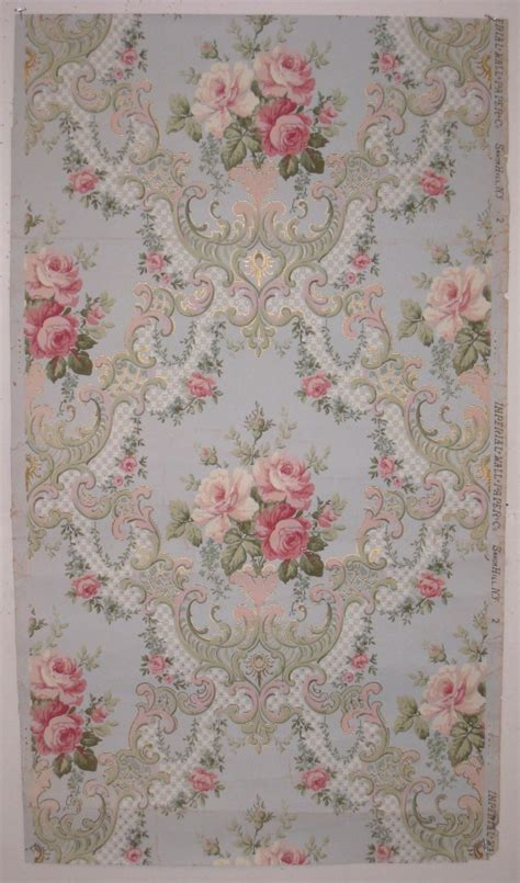 shabby chic wallpaper sles beautiful antique 19th century american floral wallpaper 7231