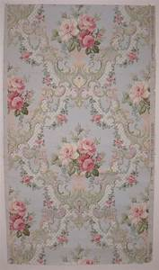 Beautiful Antique 19th Century American Floral Wallpaper ...