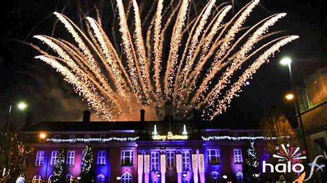 christmas lights switch on events halo fx