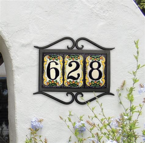 Mexican Tile House Numbers With Frame by 17 Best Ideas About House Number Plaques On