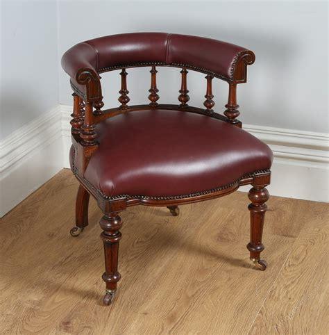 antique desk chair oak burgundy leather desk chair antiques atlas
