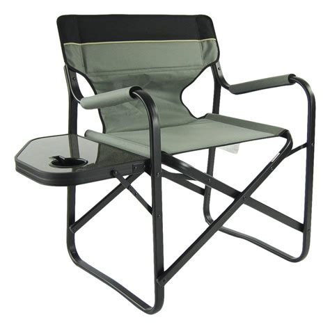 Lawn Chair With Table by Aluminium Portable Folding Director Chair With Side Table