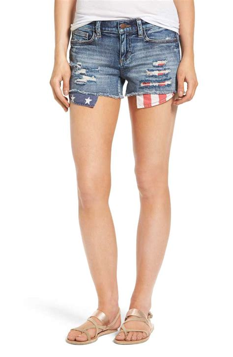 plaid blue shirt white and blue july 4th tops shorts shoes bags