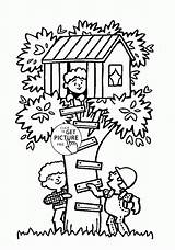 Coloring Treehouse Summer Tree Fun Seasons Pages Printables Designlooter Print 1480 13kb Drawings sketch template