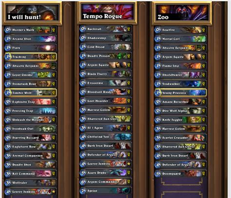 Zoo Warlock Deck Hearthstone by Hearthstone Features The Winner Decklists Weekly Episode