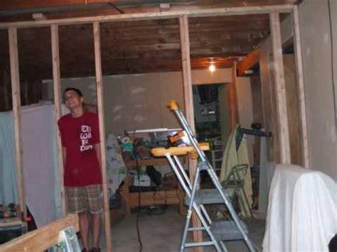 sweat equity bi level basement remodel youtube