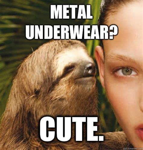 Fitness Sloth Meme - metal underwear cute whispering sloth quickmeme