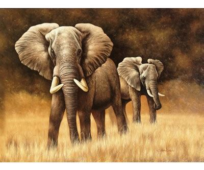 Elephant Herd Hand Painted Oil Painting Interiors Inside Ideas Interiors design about Everything [magnanprojects.com]
