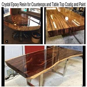 Table En Bois Et Resine : r sine poxy pour table en bois et meubles de rev tement et de peinture buy bon rev tement de ~ Dode.kayakingforconservation.com Idées de Décoration