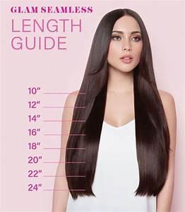 Glam Seamless Hair Extension Length Guide   Enhancing