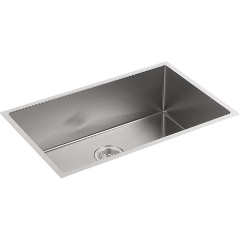 kohler strive stainless steel large single bowl kitchen