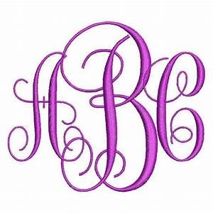 Intertwined vine monogram fonts 3 letter alphabet machine for Free monogram letters for embroidery