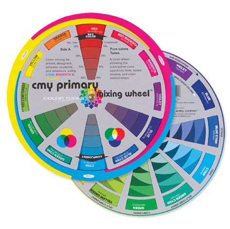 color mixing wheel cmy primary mixing wheel blick materials