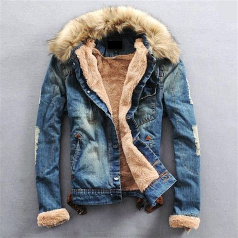 Fashion Mens Winter Jeans Jacket with Fur Collar u2013 WILLSTYLE