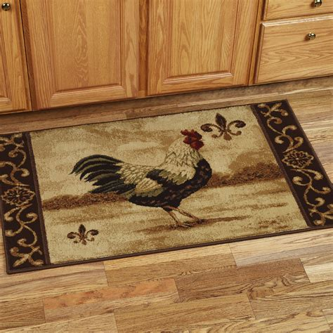 washable rooster rugs kitchen rugs with roosters kitchen ideas