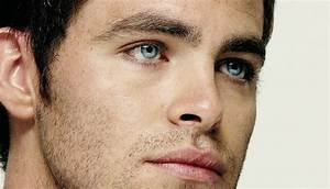 Chris Pine [17] | Close-up of his eyes, where his soft ...