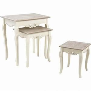 Table Bois Blanchi : tables gigognes en bois blanchi ~ Teatrodelosmanantiales.com Idées de Décoration