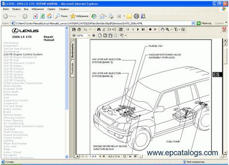 auto repair manual free download 2005 lexus lx security system lexus lx 470