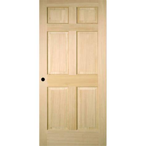 Prehung Interior Doors by Shop Reliabilt 6 Panel Solid No Skin Fir Right