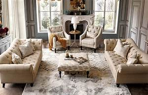 Acanva, Luxury, Chesterfield, Vintage, Living, Room, Family, Sofa, Couch, Beige, -, Walmart, Com