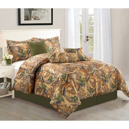 camo king size comforter set woodlands 7 camouflage comforter set sized