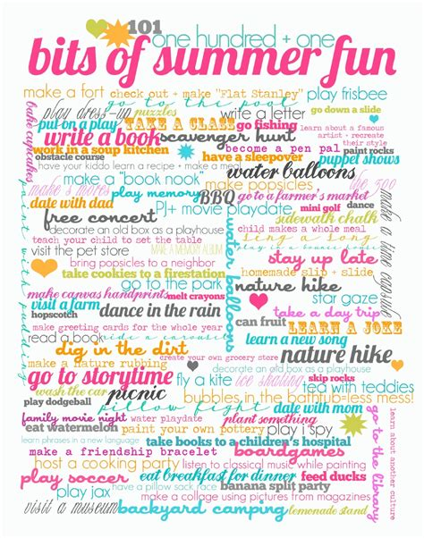 Sheek Shindigs {free Printables} 101 Bits Of Summer Fun