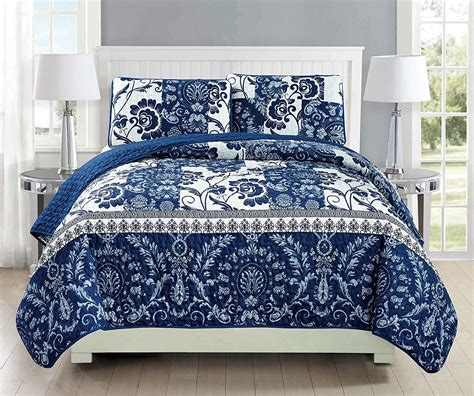 white blue bedding white and blue floral bedding and other beautiful print design 4614