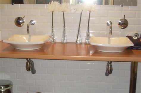 plan de travail teck salle de bain comment fabriquer un meuble vasque avec plan de travail solutions pour la d 233 coration