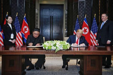 trump  kim sign document  conclude summit