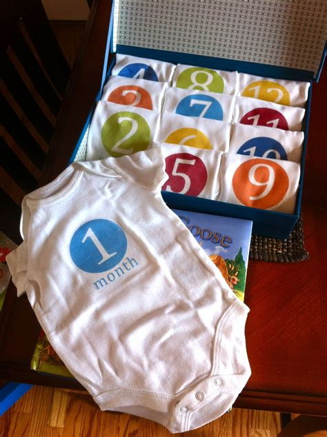 shower gifts diy monthly onesies baby shower gift stylish spoon