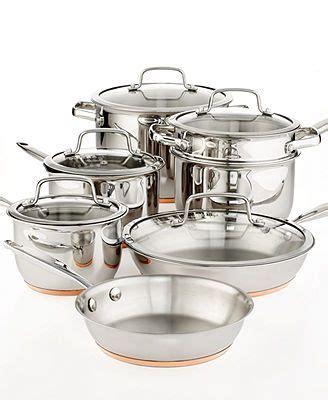 martha stewart collection copper accent cookware  piece set cookware set cookware sets
