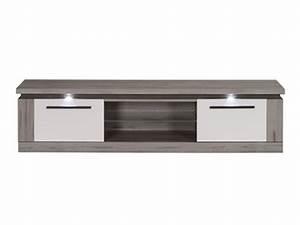 Meuble Chene Gris : meuble tv namur chene prata l 139 x h 43 4 x p 41 7 ~ Teatrodelosmanantiales.com Idées de Décoration