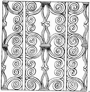 wand verziert ausmalbild malvorlage architektur
