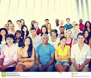 Group People Crowd Audience Casual Multicolored Sitting ...