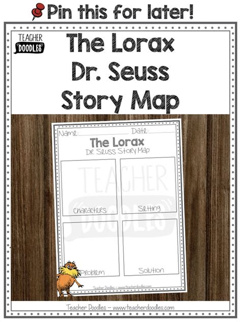 lorax story map  images story map