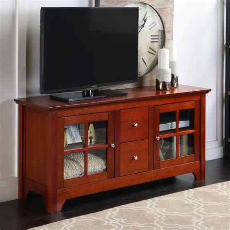 Walker Edison 52inch Wood Tv Stand Console With Drawers