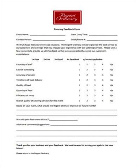 guest feedback form for restaurant sle restaurant feedback forms 7 free documents in