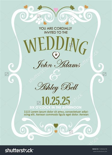 cheap wedding invitation wedding invitation card design in vector with border