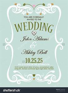 wedding invitation card design in vector with border With wedding invitation card recto