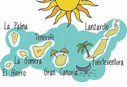 Canary Islands Clipart Canaries Canarias Map Cliparts