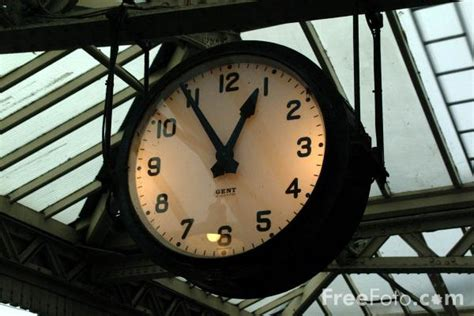 Railway Clock, Loughborough Central Station Pictures, Free